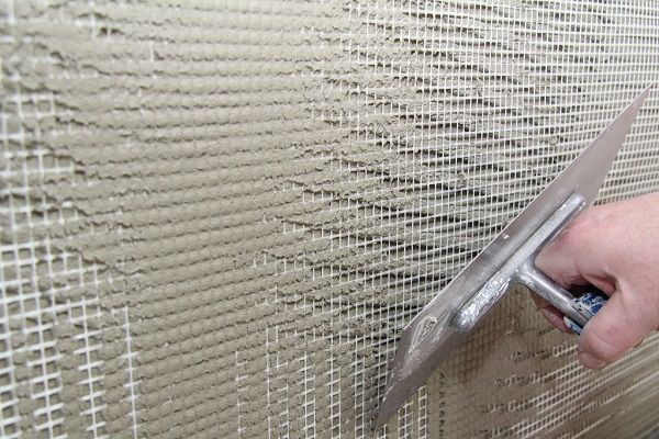 Армирование стеклосетки